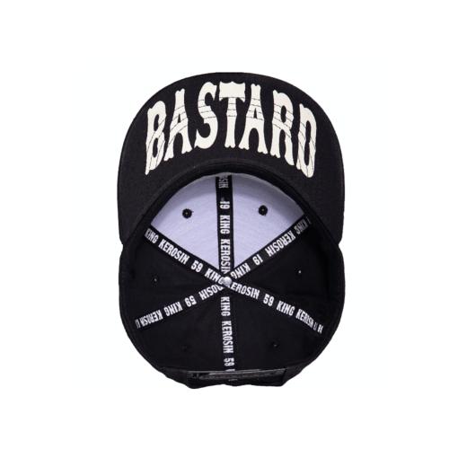 king kerosin, cap, baseball, accessoire, stickerei, schwarz, weiss, guilty, bastard, one size, baumwolle, sonne, sommer, sonnenschutz