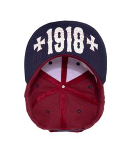 King Kerosin, cap, baseball, red baron, stickerei, accessoire, sonnenschutz, sommer, sonne, kopfbedeckung, rot, blau