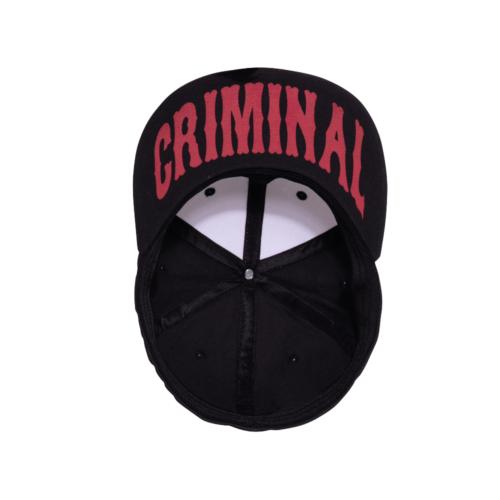 King kerosin, schwarz, weiss, 3D Stickerei, Print, Bad Ass, Criminal, Cap, Flatbrim, Mütze, Accessoire